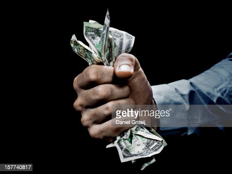 grabbing money : Foto de stock