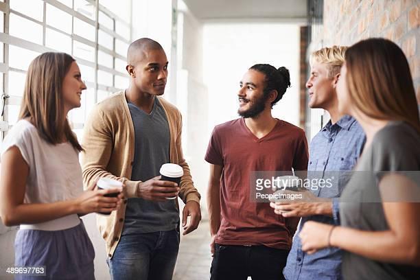 コーヒーを楽しむのも、お仕事仲間との数