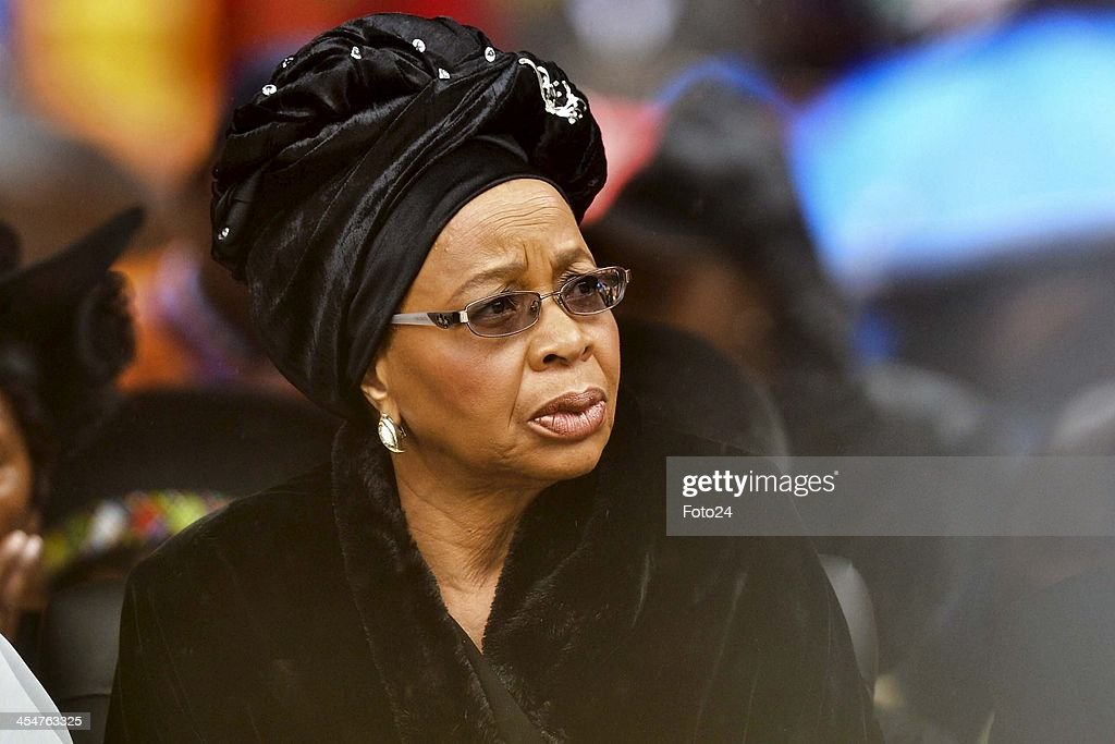 Graca Machel attending Nelson Mandela's public Memorial Service at the FNB stadium on December 10, 2013, in Johannesburg, South Africa. The Father of the Nation passed away quietly on the evening of December 5, 2013 at his home in Houghton with family. He will be buried in Qunu for the official State funeral on December 15, 2013.