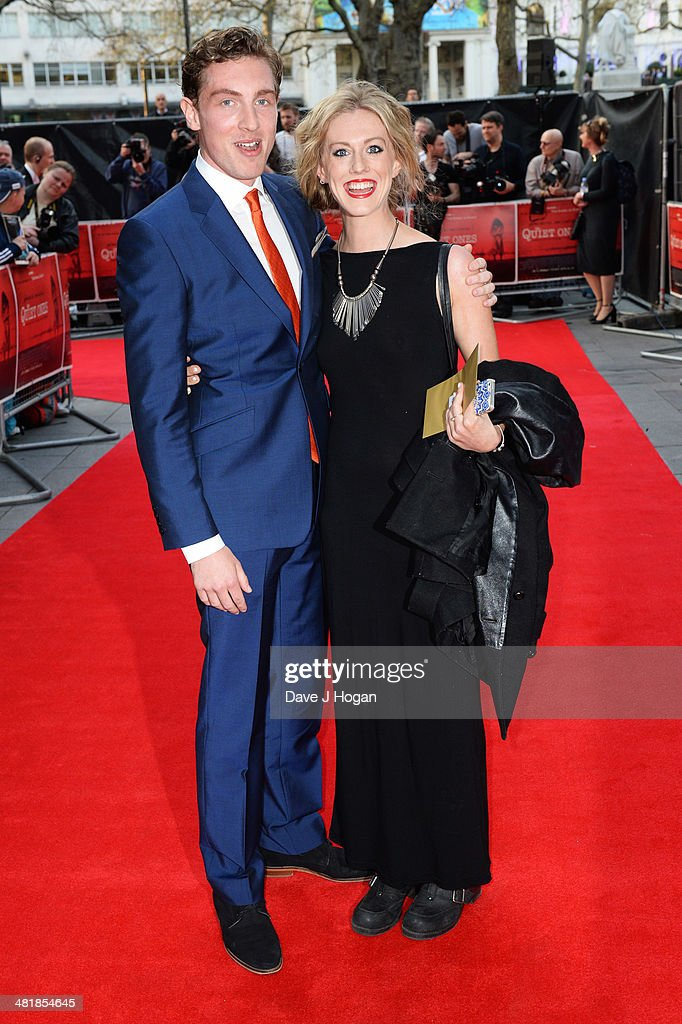 Grace Carter and Rory Fleck-Bryne attend the world premiere of 'The Quiet Ones' at The Odeon West End on April 1, 2014 in London, England.