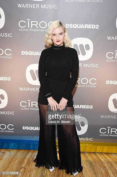 Grace Chatto attends the Warner Music Group Ciroc Vodka Brit Awards after party at Freemasons Hall on February 24 2016 in London England