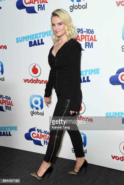 Grace Chatto of Clean Bandit attends the Capital Summertime Ball at Wembley Stadium on June 10 2017 in London United Kingdom