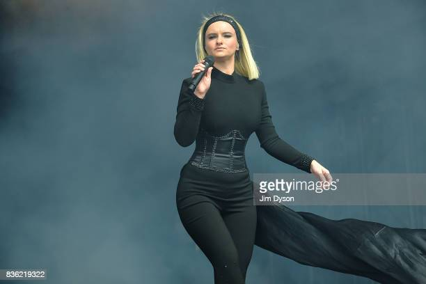 Grace Chatto of Clean Bandit performs live on stage during V Festival 2017 at Hylands Park on August 20 2017 in Chelmsford England