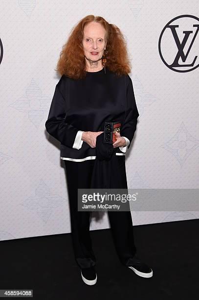 Grace Coddington attends Louis Vuitton Monogram celebration at Museum of Modern Art on November 7 2014 in New York City