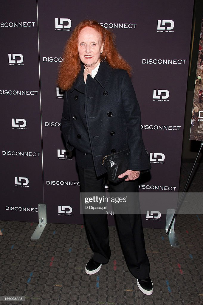 <a gi-track='captionPersonalityLinkClicked' href=/galleries/search?phrase=Grace+Coddington&family=editorial&specificpeople=1706831 ng-click='$event.stopPropagation()'>Grace Coddington</a> attends the 'Disconnect' New York Special Screening at SVA Theater on April 8, 2013 in New York City.