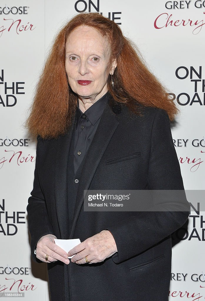 Grace Coddington attends the 'On The Road' premiere at SVA Theater on December 13, 2012 in New York City.