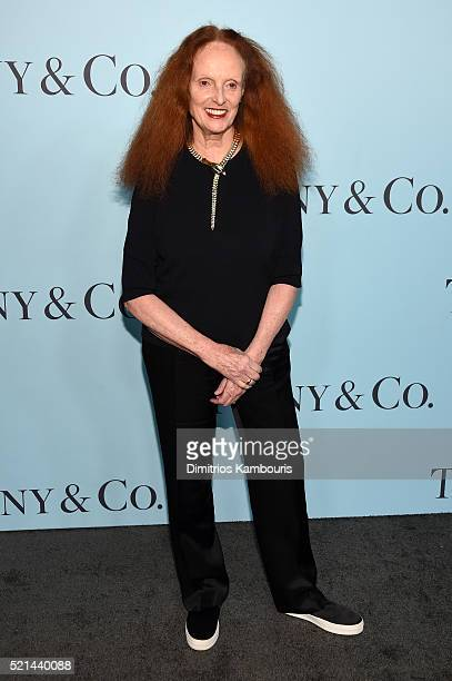 Grace Coddington attends the Tiffany Co Blue Book Gala at The Cunard Building on April 15 2016 in New York City