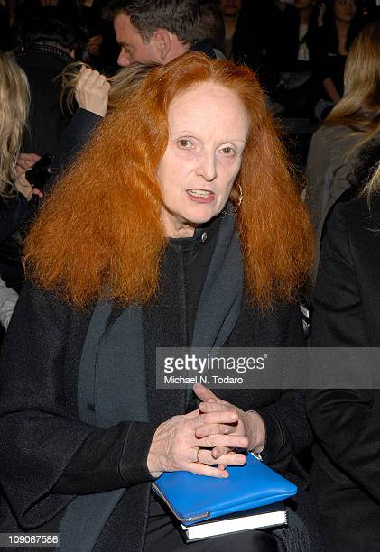 Grace Coddington attends the Y3 Fall 2011 fashion show during MercedesBenz Fashion Week on February 13 2011 in New York City