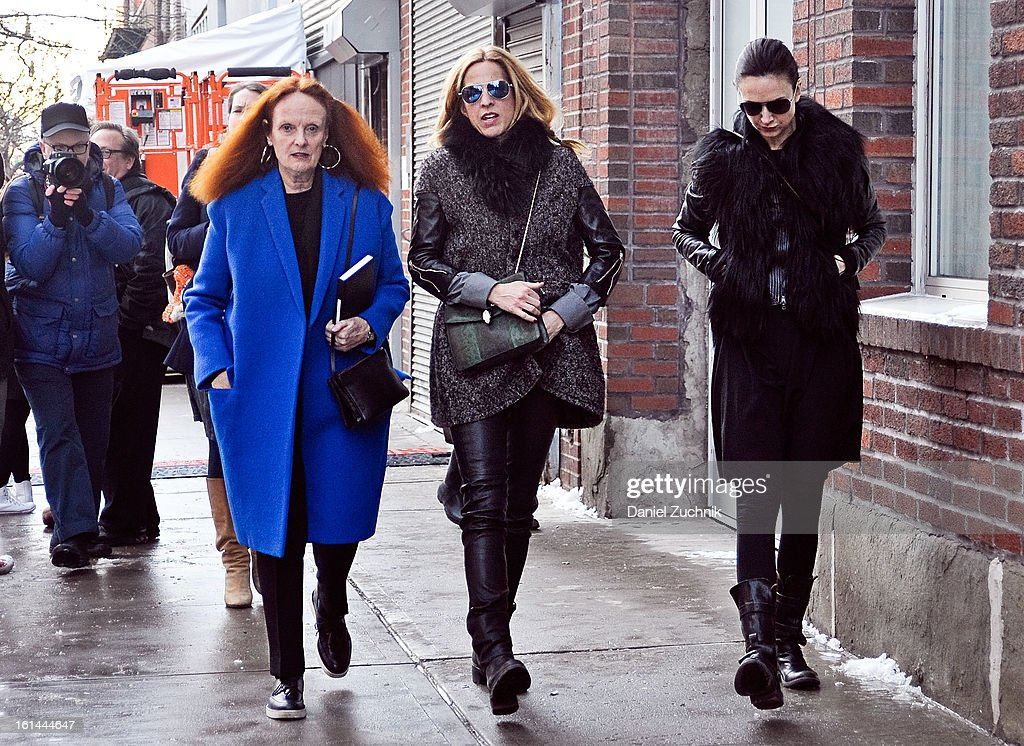 Grace Codington(L) seen outside the Thakoon show on February 10, 2013 in New York City.