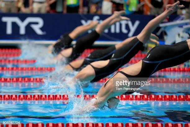 Grace Countie competes in a Women's 50 LC Meter Freestyle heat race during the 2017 Phillips 66 National Championships World Championship Trials at...