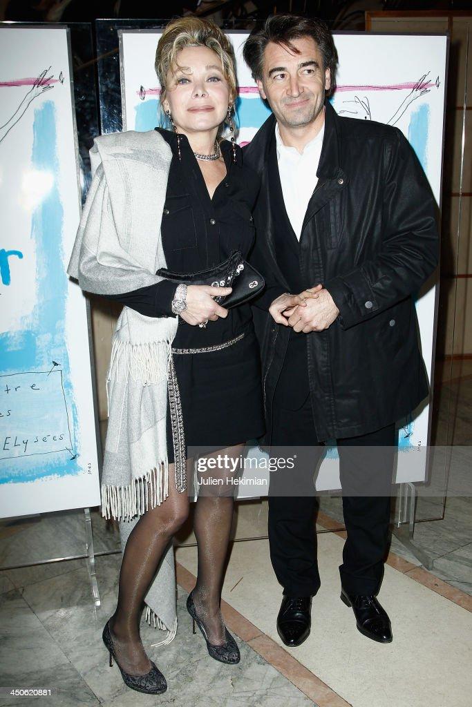 Grace de Capitani and guest attend the 'Gala de l'Espoir' hosts by the Ligue Contre Le Cancer at Theatre des Champs-Elysees on November 19, 2013 in Paris, France.