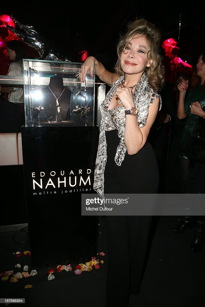 Grace de Capitani attends jeweler Edouard Nahum's 'Maya' collection launch cocktail party at La Gioia on December 4, 2012 in Paris, France.