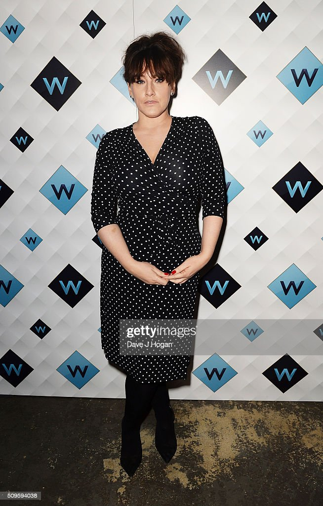 Grace Dent attends a celebration of the new TV channel 'W,' launching on Monday 15th February, at Union Street Cafe on February 11, 2016 in London, England.
