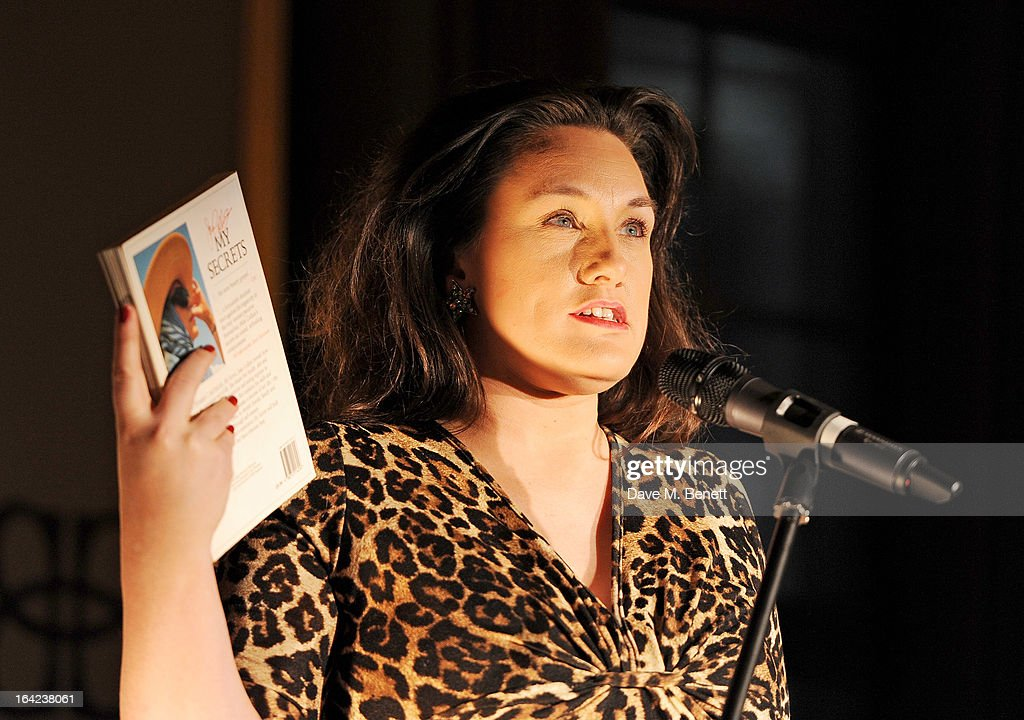 Grace Dent speaks at the launch of Baileys new sleek bottle design at the Cafe Royal hotel on March 21, 2013 in London, England.