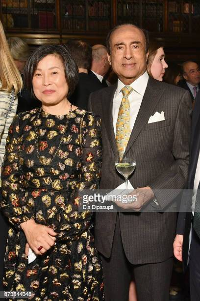 Grace Dhawan and Raj K Dhawan attend the Getty Medal Dinner 2017 at The Morgan Library Museum on November 13 2017 in New York City