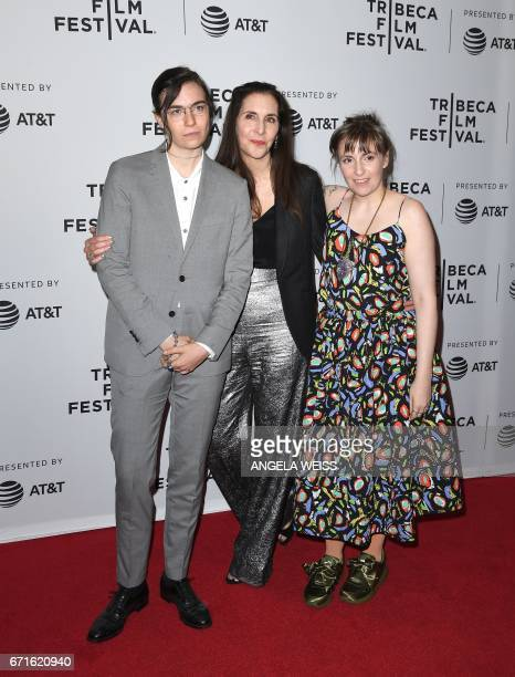 Grace Dunham director Laurie Simmons and Lena Dunham attend the 'My Art' premiere during 2017 Tribeca Film Festival at Cinepolis Chelsea on April 22...