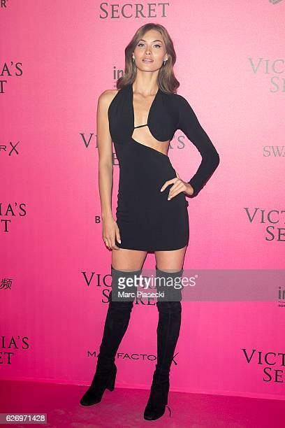 Grace Elizabeth attends '2016 Victoria's Secret Fashion Show' after show photocall at Le Grand Palais on November 30 2016 in Paris France
