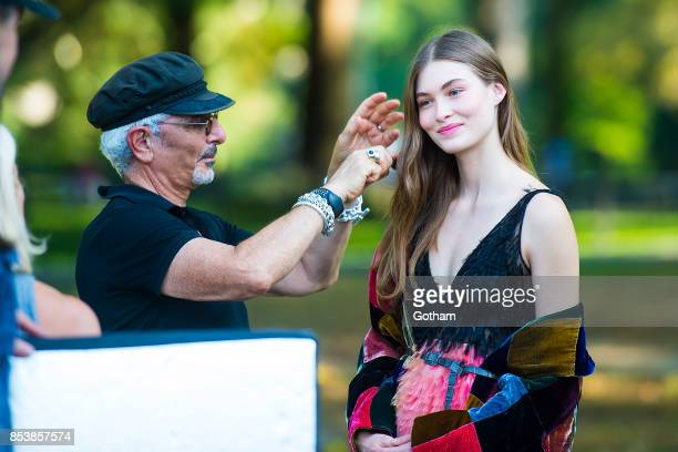 Grace Elizabeth is seen during a photoshoot for V Magazine in Central Park on September 25 2017 in New York City