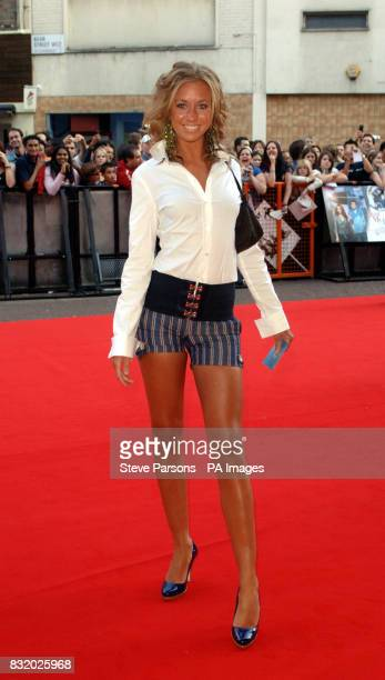 Grace from Big Brother arrives at the UK Premiere of Just My Luck at the Vue West End central London