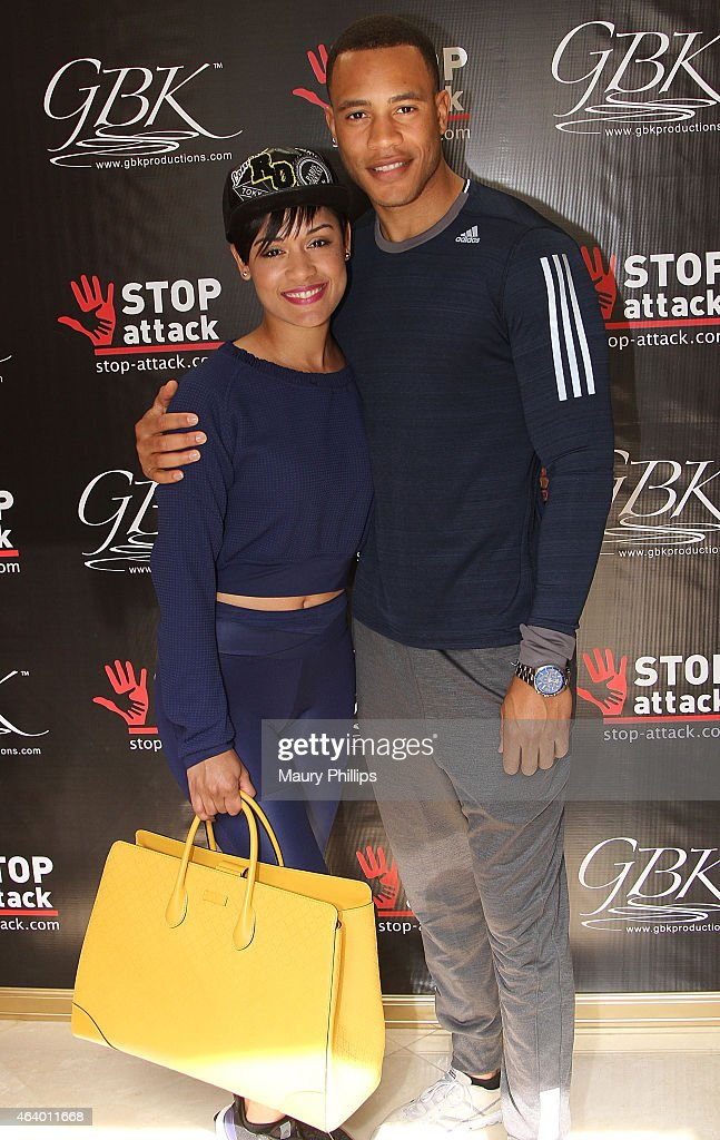 Grace Gealey and Trai Byers attend GBK 2015 Pre-Oscar Awards luxury gift lounge on February 20, 2015 in Los Angeles, California.