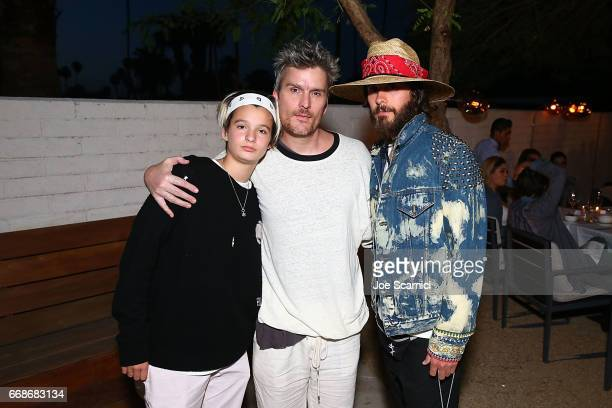 Grace Getty Balthazar Getty and Jered Leto attend a VIP Dinner for Desert X in Palm Springs at SOPA Restaurant on April 14 2017 in Palm Springs...