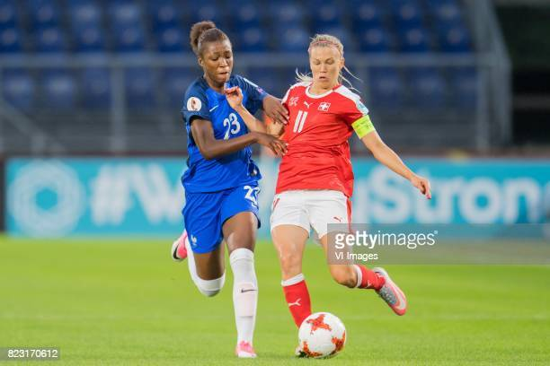 Grace Geyoro of France women Lara Dickenmann of Switzerland women during the UEFA WEURO 2017 Group C group stage match between Switzerland and France...