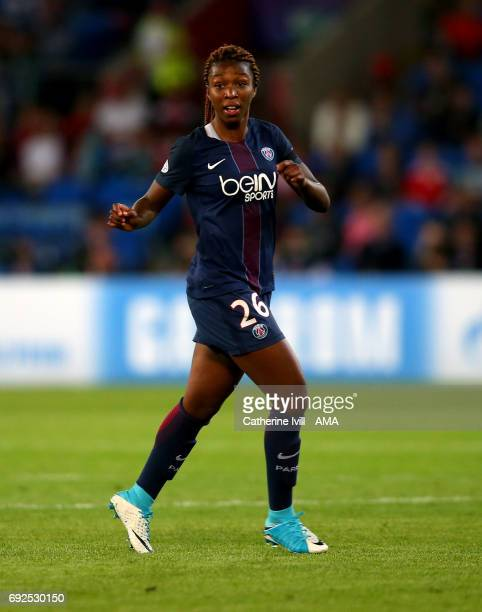 Grace Geyoro of PSG during the UEFA Women's Champions League Final match between Lyon and Paris Saint Germain at Cardiff City Stadium on June 1 2017...