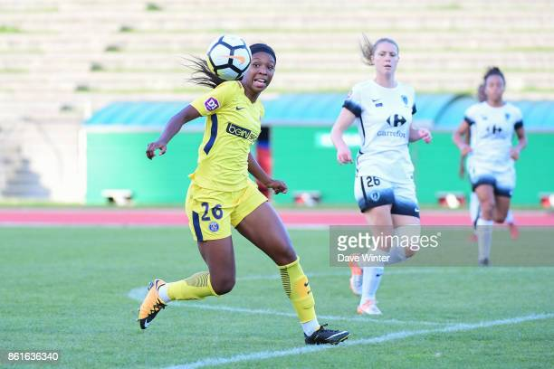 Grace Geyoro of PSG during the women's Division 1 match between Paris FC and Paris Saint Germain on October 15 2017 in Paris France