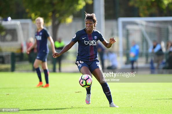 Grace Geyoro of PSG during the women's French D1 league match between PSG and Olympique de Marseille at Camp des Loges on September 25 2016 in Saint...