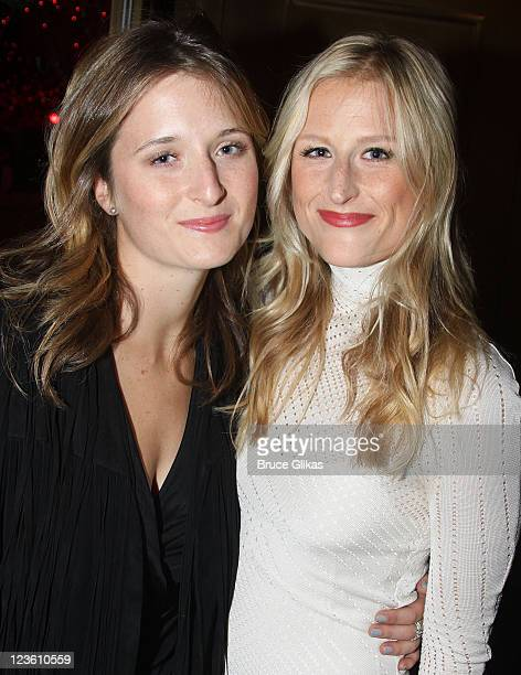 Grace Gummer and Mamie Gummer pose at the Opening Night of 'Bloody Bloody Andrew Jackson' on Broadway at The Bernard B Jacobs Theatre on October 13...