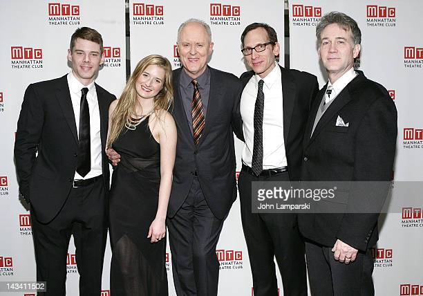Grace Gummer Brian J SmithBoyd Gaines John Lithgow and Stephen Kunken attend the 'The Columnist' Broadway Opening Night After Party at Copacabana on...