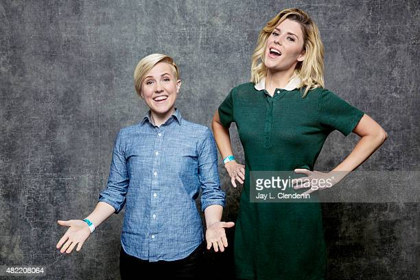 Grace Helbig and Hannah Hart of Electra Woman and Dyna Girl pose for a portraits at ComicCon International 2015 for Los Angeles Times on July 9 2015...