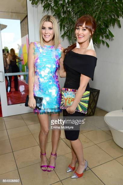 Grace Helbig and Mamrie Hart at the 2017 Streamy Awards at The Beverly Hilton Hotel on September 26 2017 in Beverly Hills California