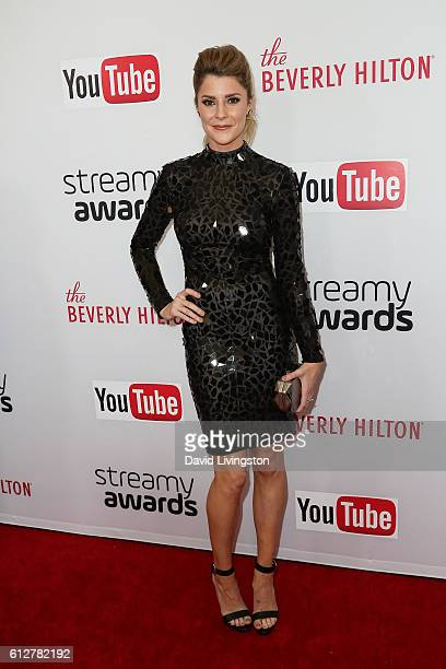 Grace Helbig arrives at the 2016 Streamy Awards at The Beverly Hilton Hotel on October 4 2016 in Beverly Hills California