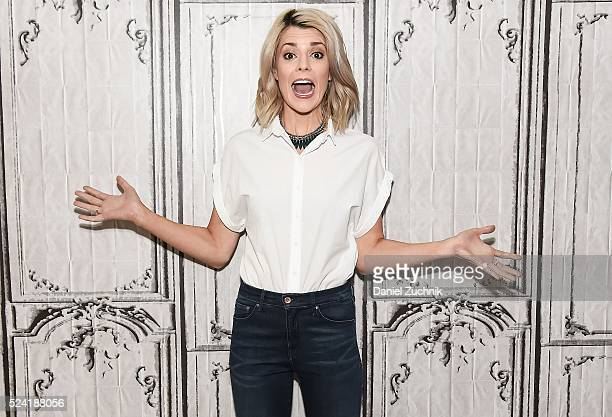Grace Helbig attends AOL Build to discuss her new show 'Electra Woman and Dyna Girl' on April 25 2016 in New York New York
