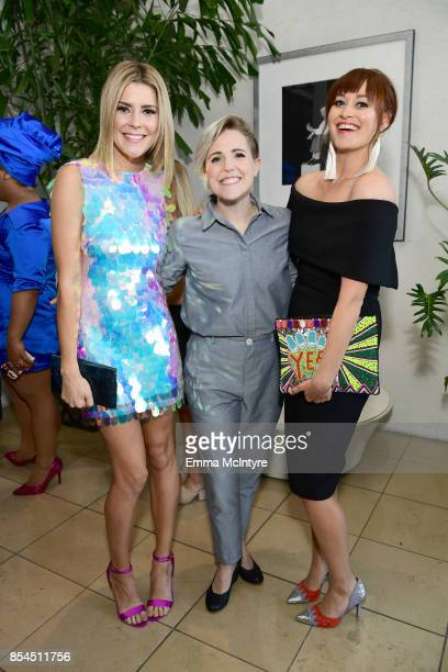 Grace Helbig Hannah Hart and Mamrie Hart at the 2017 Streamy Awards at The Beverly Hilton Hotel on September 26 2017 in Beverly Hills California