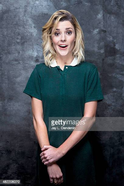 Grace Helbig of Electra Woman and Dyna Girl poses for a portraits at ComicCon International 2015 for Los Angeles Times on July 9 2015 in San Diego...