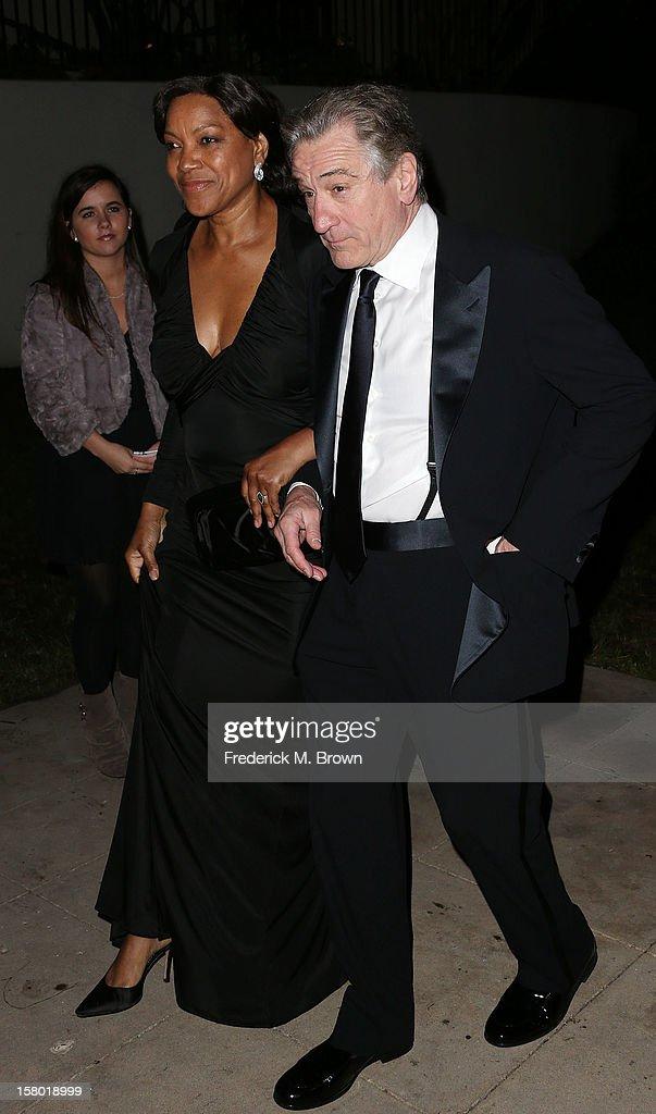 Grace Hightower (L) actor Robert De Niro attend the SBIFF's 2012 Kirk Douglas Award For Excellence In Film during the Santa Barbara Film Festival on December 8, 2012 in Goleta, California.