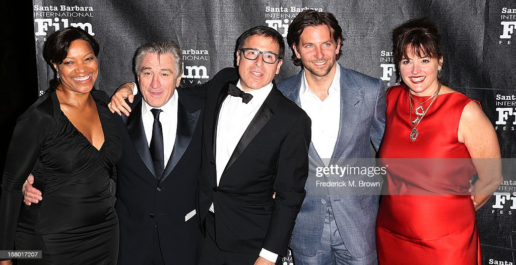 Grace Hightower, actor Robert De Niro, director David O. Russell, actor Bradley Cooper and a guest attend the SBIFF's 2012 Kirk Douglas Award for Excellence In Film during the Santa Monica Film Festival on December 8, 2012 in Goleta, California.