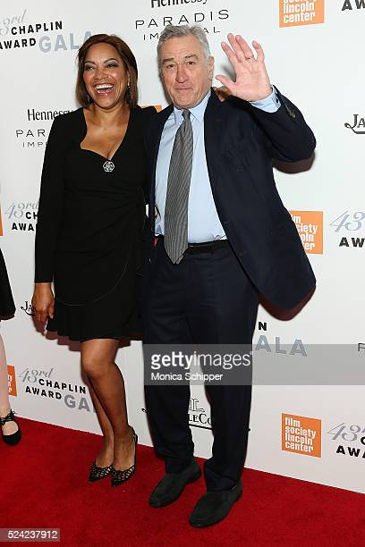 Grace Hightower and actor Robert De Niro attend the 43rd Chaplin Award Gala at Alice Tully Hall Lincoln Center on April 25 2016 in New York City