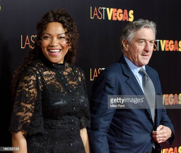 Grace Hightower and Actor Robert De Niro attend the 'Last Vegas' premiere at the Ziegfeld Theater on October 29 2013 in New York City