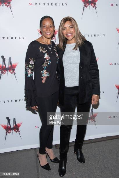 Grace Hightower and guest attend the 'M Butterfly' Broadway opening night at The Cort Theatre on October 26 2017 in New York City