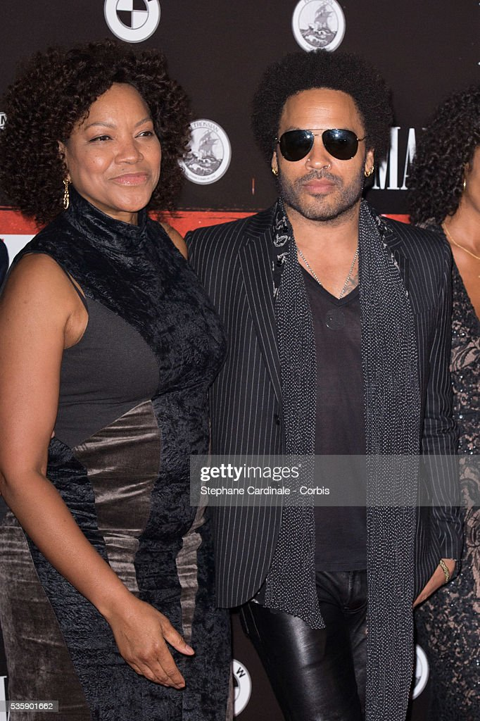 Grace Hightower and Lenny Kravitz attend the 'Malavita' premiere at Europacorp Cinemas at Aeroville Shopping Center, in Roissy-en-France, France.