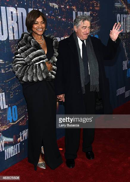 Grace Hightower and Robert De Niro attend SNL 40th Anniversary Celebration at Rockefeller Plaza on February 15 2015 in New York City