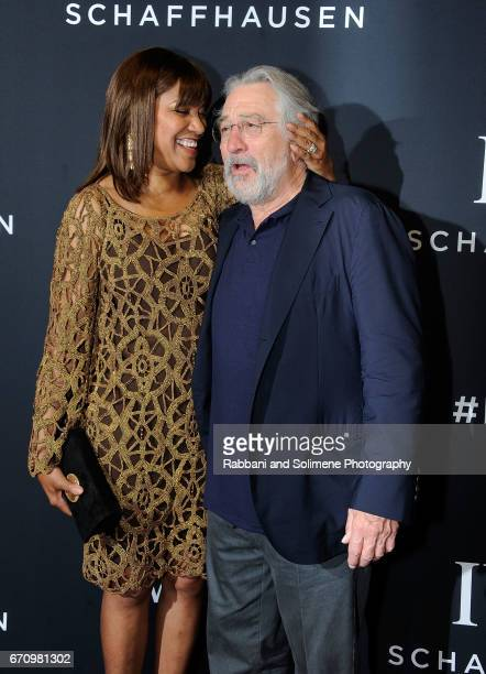 Grace Hightower and Robert De Niro attend the 2017 IWC Schaffhausen 'For The Love Of Cinema' Gala Dinner at Spring Studios on April 20 2017 in New...