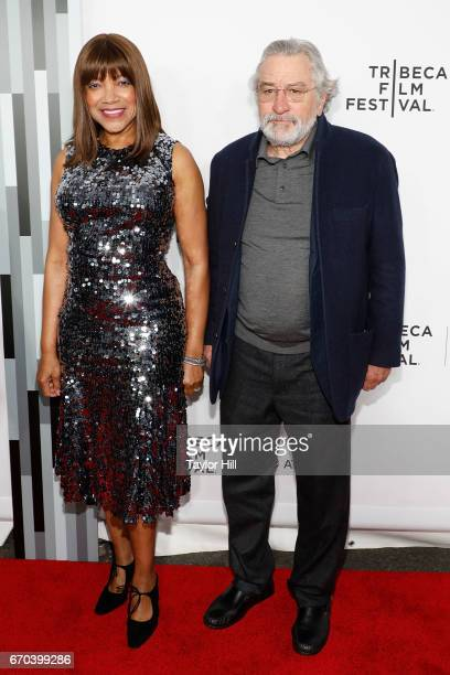 Grace Hightower and Robert De Niro attend the 'Clive Davis The Soundtrack of Our Lives' 2017 Opening Gala of the Tribeca Film Festival at Radio City...