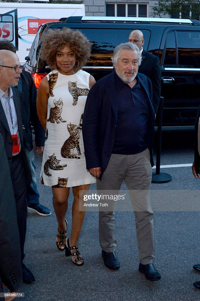 Grace Hightower and Robert De Niro attend the 'Hands of Stone' US premiere at SVA Theater on August 22 2016 in New York City