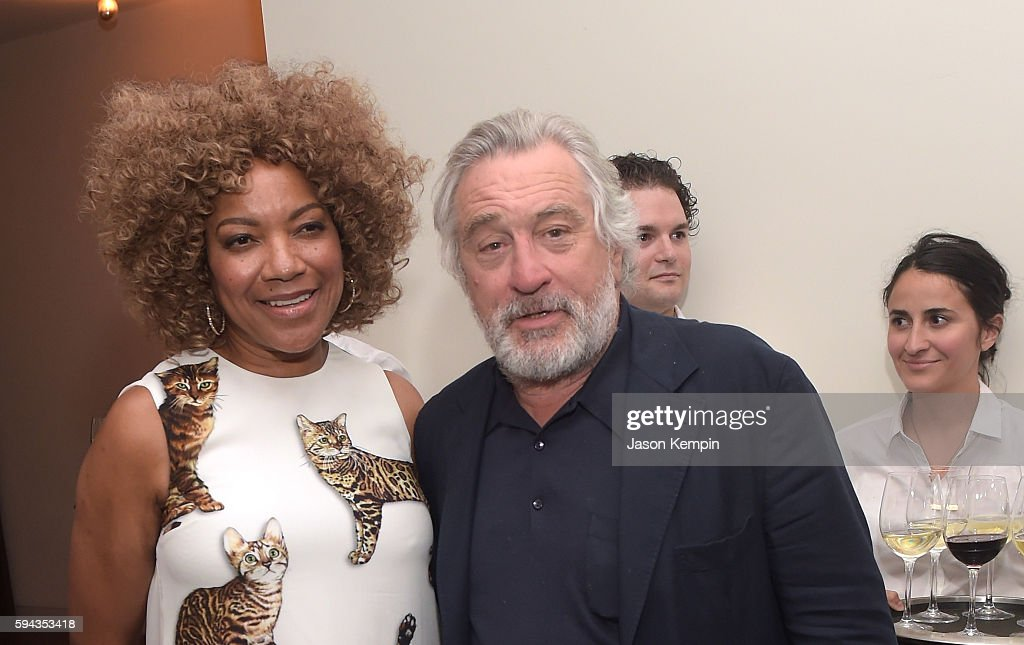 Grace Hightower and Robert De Niro attend the New York Premiere Of 'Hands Of Stone' in Partnership with DeLeon Tequila NetJets The Redbury New York...