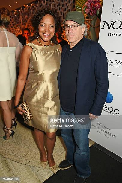 Grace Hightower and Robert De Niro attend the Nobu Berkeley St 10th anniversary party supported by Malone Souliers and Ciroc Vodka on November 5 2015...