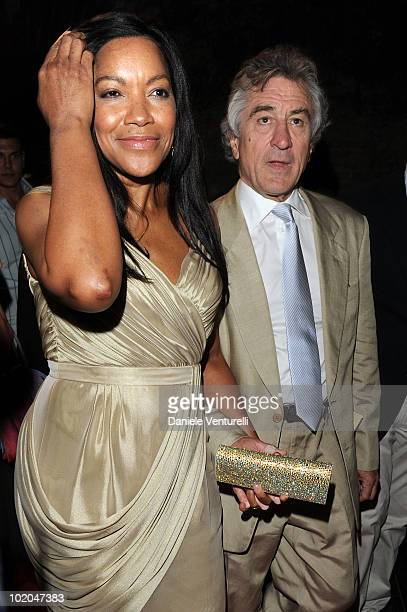 Grace Hightower and Robert De Niro attend the Premio Citta Di Taormina And Taormina Arte Award during the Taormina Film Fest 2010 on June 13 2010 in...